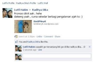 Like nya mas Raditya Dika